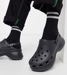 Черные сандалии на платформе Crocs эксклюзивно для ASOS-Черный
