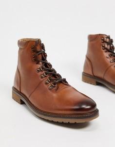 Массивные ботинки из коричневой кожи на шнуровке Silver Street-Светло-коричневый