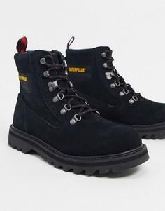 Черные кожаные походные ботинки Caterpillar graviton-Черный