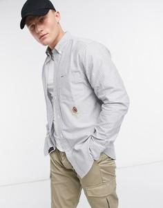 Полосатая рубашка с длинными рукавами с гербом Tommy Hilfiger Collections-Темно-синий