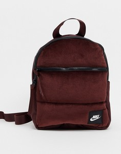 Бархатный маленький рюкзак винного цвета Nike-Фиолетовый