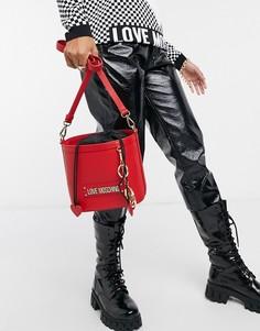 Классическая сумка-мешок красного цвета Love Moschino-Красный
