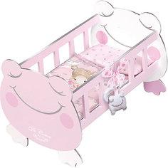 Кроватка для куклы с аксессуарами DeCuevas, 49,5 см