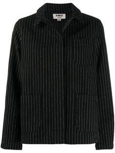 YMC куртка-рубашка в тонкую полоску