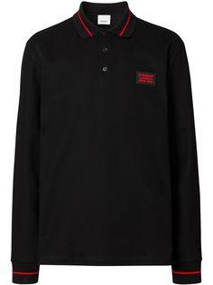 Burberry рубашка поло с аппликацией логотипа