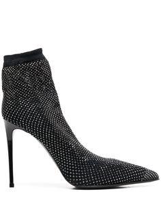 Le Silla ботильоны-носки с кристаллами