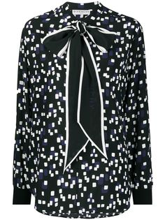 Givenchy geometrical-print silk blouse