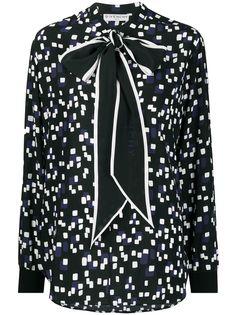 Givenchy geometrical-print silk blouse