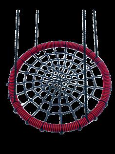 Качели-гнездо подвесные FUNNY-FLIGHT красный, 100 см