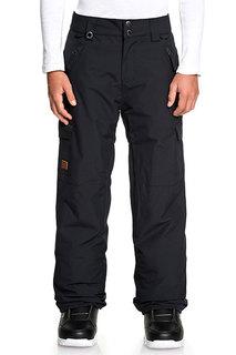 Детские сноубордические штаны Porter Quiksilver цв.черный р.140