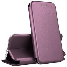 Кожаный чехол-книжка Open Color с функцией подставки для Samsung Galaxy A21s (Бордовый) Epik