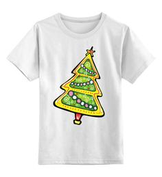 Детская футболка Printio Красочная елка цв.белый р.164