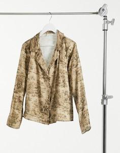 Атласная рубашка от комплекта Vila-Многоцветный