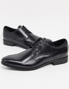 Черные кожаные туфли со шнурками Kenneth Cole levin-Черный