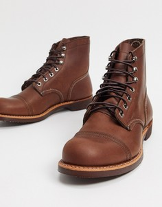 Коричневые кожаные ботинки Red Wing Iron Ranger-Коричневый