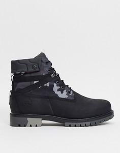 Черные ботинки с камуфляжным принтом Timberland 6 inch heritage ek-Черный
