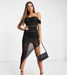 Эксклюзивное черное платье макси со сборками Jaded Rose-Черный