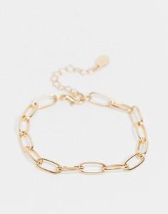 Золотистый браслет-цепочка Accessorize