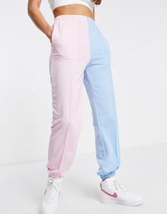 Розово-синие джоггеры в стиле колор блок Love & Other Things-Многоцветный