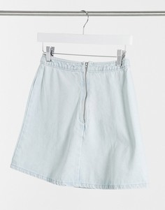 Голубая джинсовая юбка-трапеция от комплекта ASOS DESIGN-Голубой