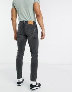 Суженные книзу джинсы черного выбеленного цвета Levis 512-Черный Levis®