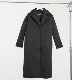 Черное стеганое пальто ASOS DESIGN Tall-Зеленый