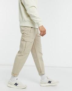 Светло-бежевые облегающие брюки карго Topman-Светло-бежевый