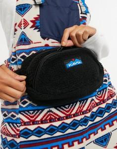 Черная сумка-кошелек на пояс из флиса Kavu-Черный