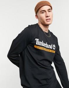 Черный лонгслив Timberland Established 1973