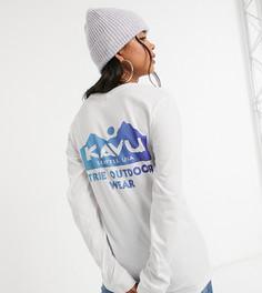 Белый лонгслив с логотипом Kavu. Эксклюзивно на ASOS