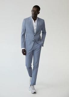 Костюмный пиджак super slim fit с мелкой фактурной выделкой - Paulo Mango