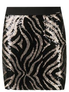 LIU JO юбка с тигровым принтом и пайетками