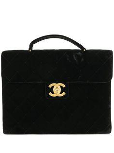 Chanel Pre-Owned стеганый портфель 1992-го года с логотипом CC