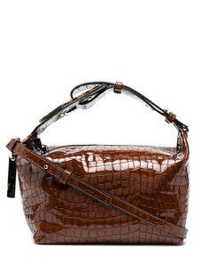 GANNI сумка на плечо с тиснением под кожу крокодила