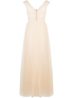 Giambattista Valli расклешенное вечернее платье с V-образным вырезом