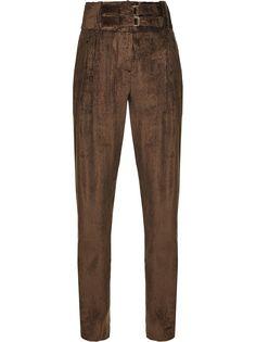 Pinko зауженные вельветовые брюки