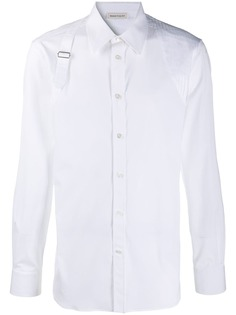 Alexander McQueen buckle-detail cotton shirt