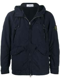 Stone Island куртка с капюшоном и карманами