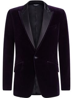 Dolce & Gabbana бархатный пиджак
