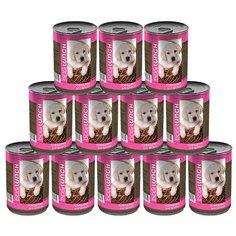Корм для собак Dog Lunch Говядина в желе для щенков, 12 шт. в уп. х 410 г