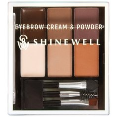 SHINEWELL Набор для стилизации бровей Eyebrow Cream & Powder 03