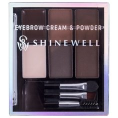 SHINEWELL Набор для стилизации бровей Eyebrow Cream & Powder 2/1