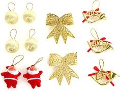 Набор елочных украшений (цвет: красный/золотой, 10 штук) Veld