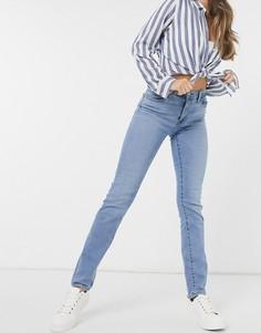 Голубые выбеленные джинсы с завышенной талией и прямыми штанинами Levis 724-Голубой Levis®