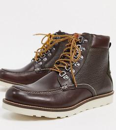 Коричневые кожаные походные ботинки премиум-класса для широкой стопы Original Penguin-Коричневый