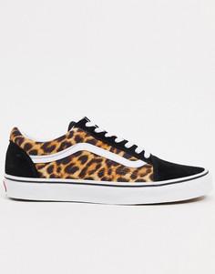 Кроссовки с леопардовым принтом Vans Old Skool-Многоцветный