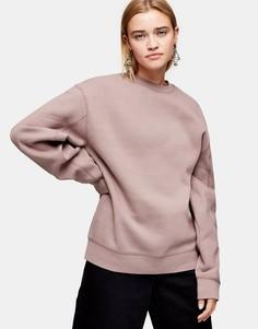 Серо-коричневый свитшот Topshop-Розовый
