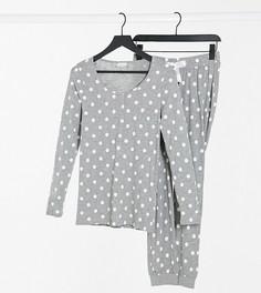 Серая пижама в горошек для кормления Mamalicious Maternity-Многоцветный Mama.Licious