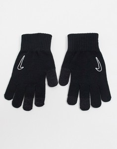 Черные трикотажные перчатки Tech 2.0 в стиле унисекс Nike-Черный