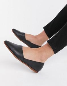 Черные кожаные туфли на плоской подошве ALDO Blanchette-Черный
